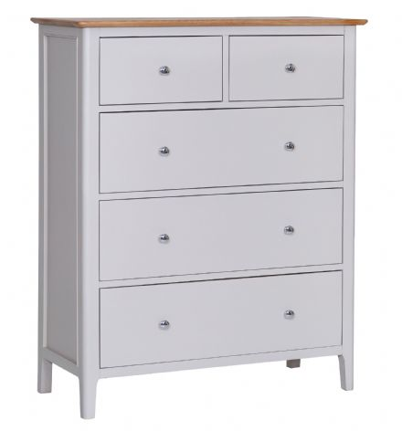 Newhaven Grey Painted Jumbo 2 Over 3 Chest